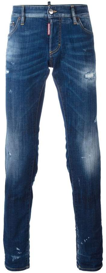 DSQUARED2 Slim lightly distressed jeans