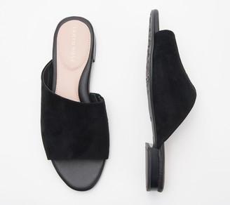 Taryn Rose Suede Slide Sandals - Vanessa