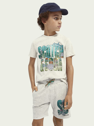 Scotch & Soda Ocean-graphic cotton-blend T-shirt | Boys