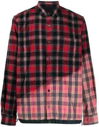 Sacai fade out checked shirt
