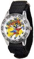 Disney Mickey Mouse Boys' Plastic Case Watch, Black Nylon Strap