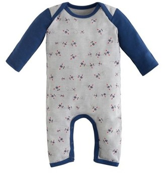 Under the Nile Lap Shoulder Romper - Twilight Planes - 6-9M