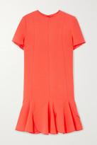 Victoria Victoria Beckham Victoria, Victoria Beckham Ruffled Crepe Mini Dress