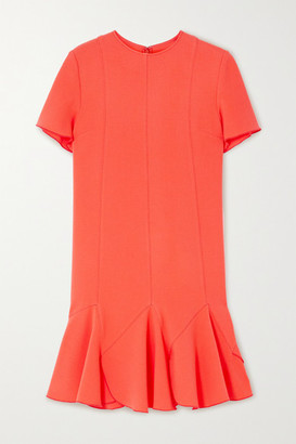 Victoria Victoria Beckham Ruffled Crepe Mini Dress