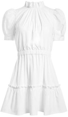 Alice + Olivia Vida Puff-Sleeve Mini Dress