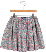 Jacadi Girls' Floral A-Line Skirt