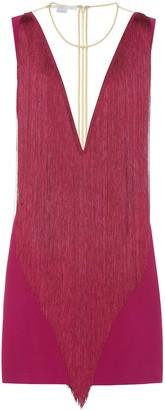 Stella McCartney Fringe crepe minidress