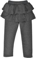 Simplicity Kids' Solid Footless Tutu Legging with Ruffled Skirt Culottes,D.Grey