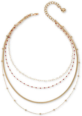 BCBGeneration Gold-Tone Multi-Chain Layered Necklace, 15