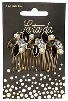 La-ta-da Black Stone Pearl Jeweled Hair Pin 1 Count