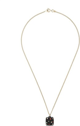 Chanel Pre Owned Rhinestones Pendant Necklace