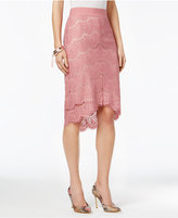 Thalia Sodi High-Low Scallop-Hem Skirt, Only at Macy's