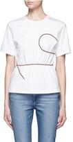 Acne Studios 'Kiri' wavy cord cotton T-shirt