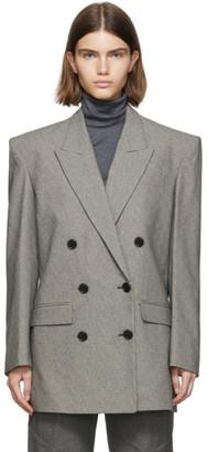 Isabel Marant Black and White Eladim Double Breasted Jacket