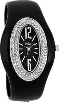 MC M&c Women's Stylish Shiny CZ Bangle Watch