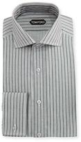 Tom Ford Slim-Fit Striped Cotton-Viscose Dress Shirt