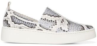 Vince Saxon Snakeskin-Embossed Leather Platform Sneakers