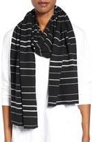 Eileen Fisher Women's Stripe Merino Wool Jersey Scarf