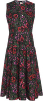 Marni Floral Cotton Flared Dress