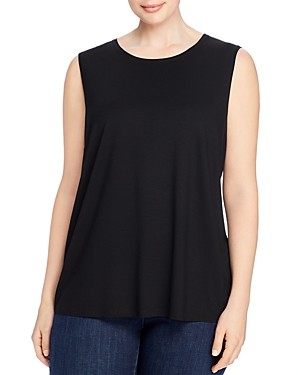 Eileen Fisher, Plus Size Crewneck Shaped Tank Top