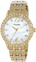 Pulsar Women's PH8052 Analog Display Japanese Quartz Gold Watch