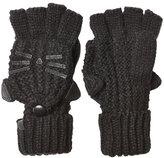 Karl Lagerfeld Fingerless Knit Gloves