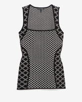 Intermix Exclusive For Mixed Print Square Neckline Sleeveless Knit
