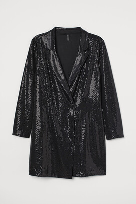 H&M H&M+ Shimmery Jacket Dress