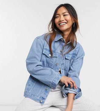 Wednesday's Girl oversized denim jacket in light wash