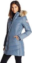 Pajar Women's Plus-Size Brooklyn Long Down Parka with Fur Hood