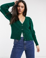 Stradivarius knit cardigan in green