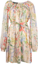 Rochas floral print longsleeved dress - women - Silk - 40