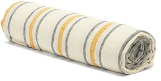 Frescobol Carioca Striped Linen Beach Towel - Navy White