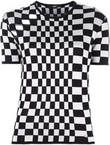 Versus open panel checked top - women - Viscose/Wool - 40