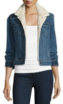 Paige Leo Denim Jacket w/Faux-Shearling Lining, Hyperion