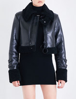 Off-White Cropped shearling jacket