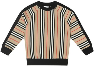 BURBERRY KIDS Lance striped cotton sweatshirt