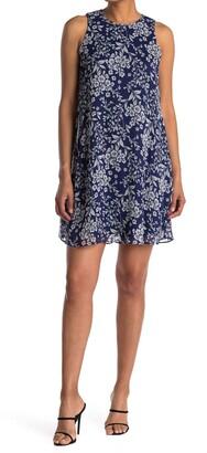 Calvin Klein Ditsy Floral Trapeze Dress