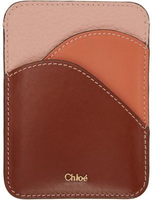 Chloé Pink Walden Card Holder