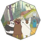 MyBetter We Bare Bears Funny Custom Foldable Umbrella Fashion Portable Umbrella