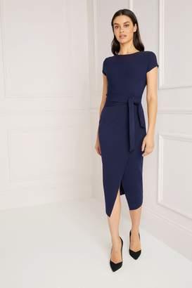 Lipsy Petite Self Tie Bodycon Dress - 10 - Blue
