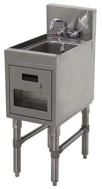 "Advance Tabco Prestige Series Free Standing Handwash Station with Faucet Advance Tabco Size: 36"" H x 12"" L x 20"" W"