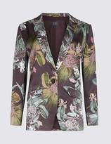 Marks and Spencer Floral Print Single Breasted Blazer