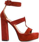Marc Ellis - ankle strap platform sandals - women - Leather/Suede/rubber - 36