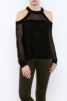 Flying Tomato Cold Shoulder Sweater