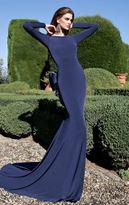 Tarik Ediz Bow Accented Gown 92563