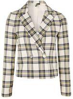 Topshop Checked crop jacket