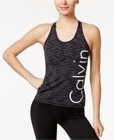 Calvin Klein Space-Dyed Logo Racerback Tank Top