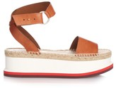 Stella McCartney Raffia flatform sandals
