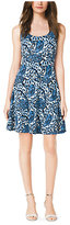 Michael Kors Paisley-Print Flared Dress